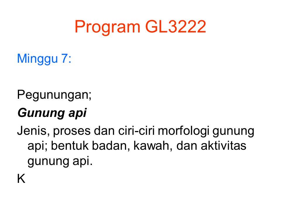 Program GL3222 Minggu 7: Pegunungan; Gunung api