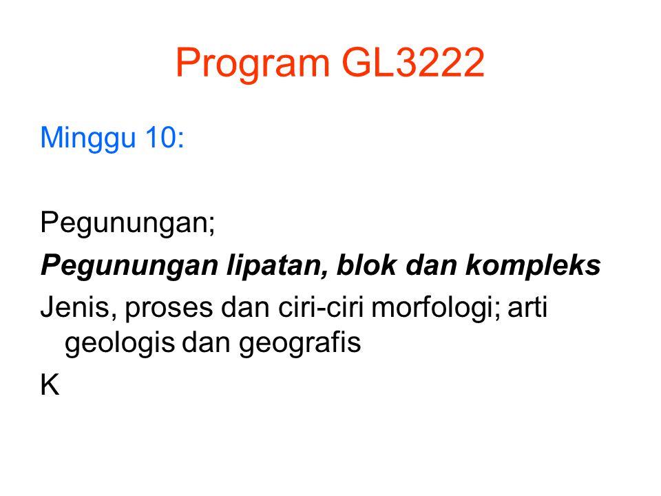 Program GL3222 Minggu 10: Pegunungan;