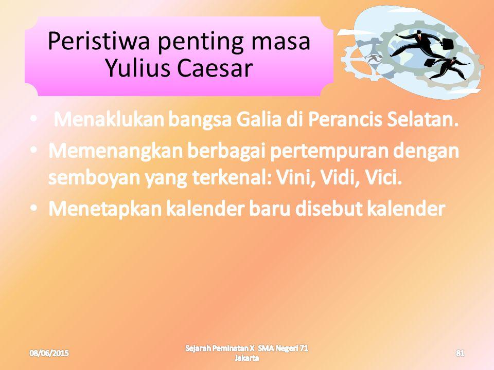 Peristiwa penting masa Yulius Caesar