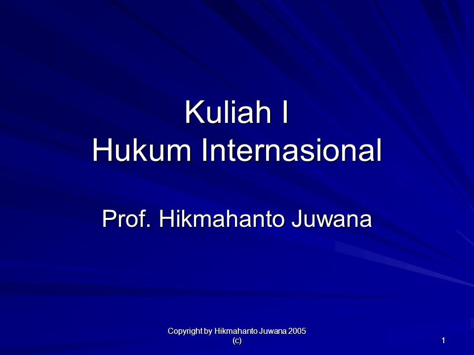 Kuliah I Hukum Internasional