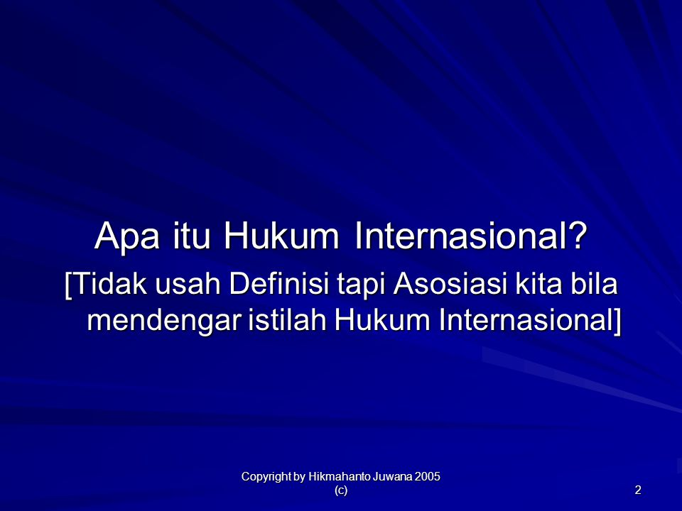 Apa itu Hukum Internasional