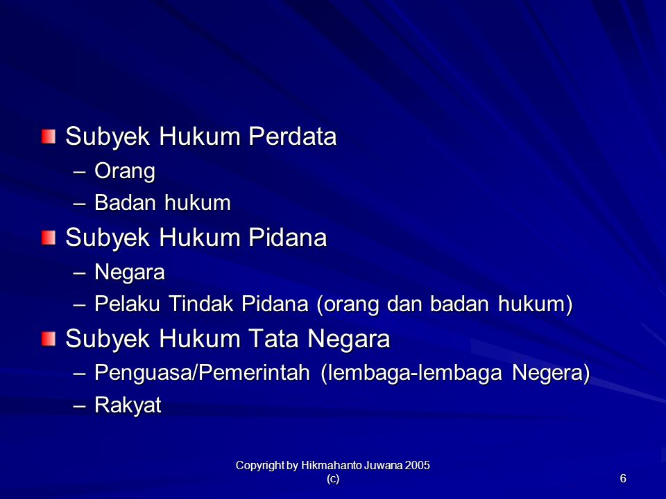 Copyright by Hikmahanto Juwana 2005 (c)