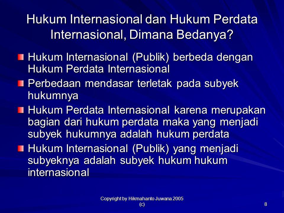 Hukum Internasional dan Hukum Perdata Internasional, Dimana Bedanya