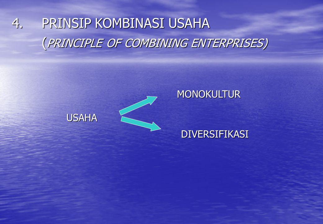 4. PRINSIP KOMBINASI USAHA (PRINCIPLE OF COMBINING ENTERPRISES)