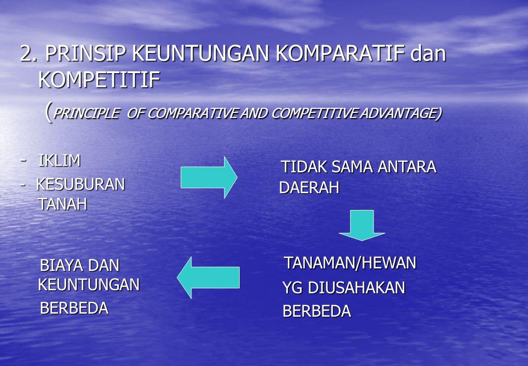 2. PRINSIP KEUNTUNGAN KOMPARATIF dan KOMPETITIF