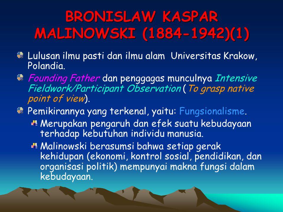 BRONISLAW KASPAR MALINOWSKI (1884-1942)(1)