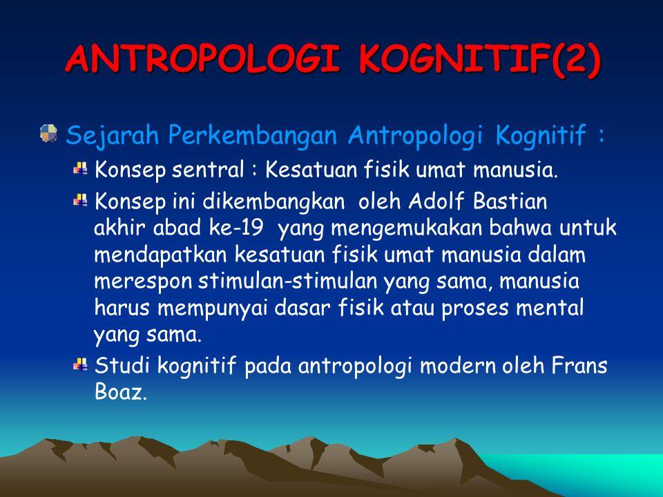 ANTROPOLOGI KOGNITIF(2)