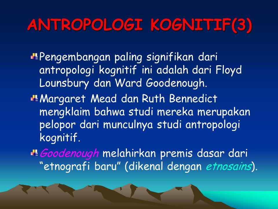 ANTROPOLOGI KOGNITIF(3)