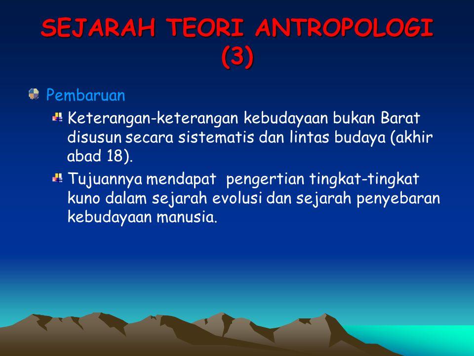 SEJARAH TEORI ANTROPOLOGI (3)