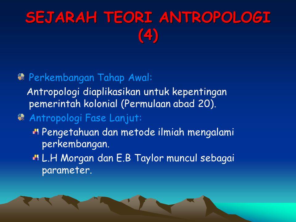 SEJARAH TEORI ANTROPOLOGI (4)