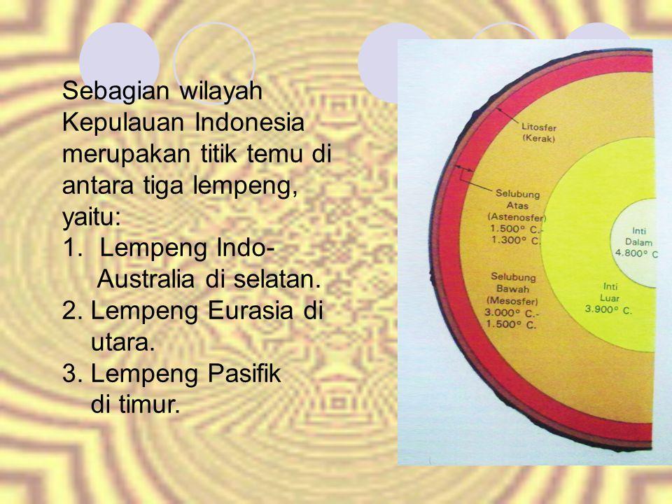 Sebagian wilayah Kepulauan Indonesia merupakan titik temu di