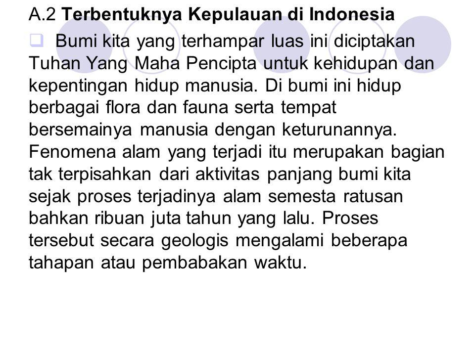A.2 Terbentuknya Kepulauan di Indonesia