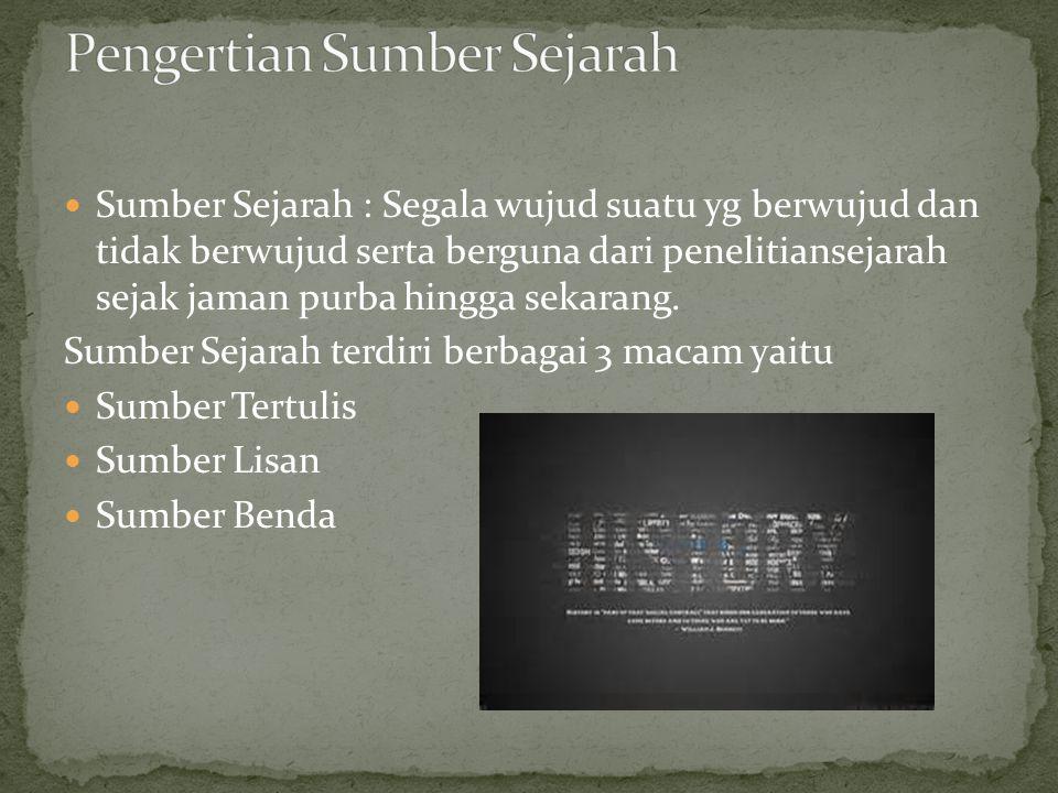 Pengertian Sumber Sejarah