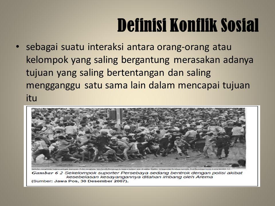 Definisi Konflik Sosial