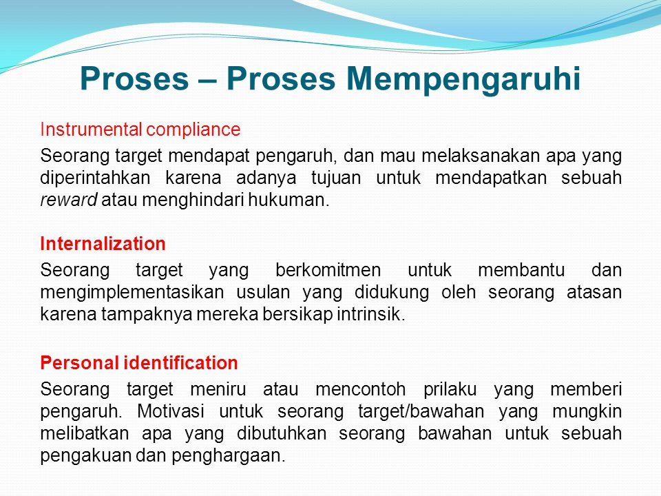 Proses – Proses Mempengaruhi