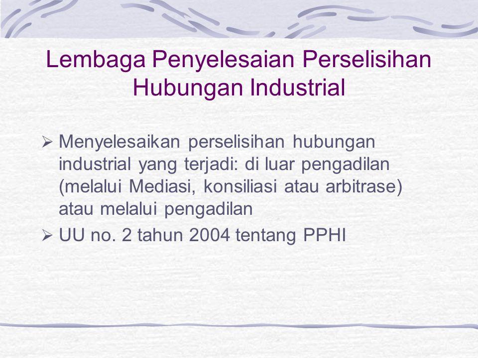 Lembaga Penyelesaian Perselisihan Hubungan Industrial