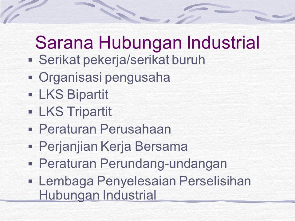 Sarana Hubungan Industrial