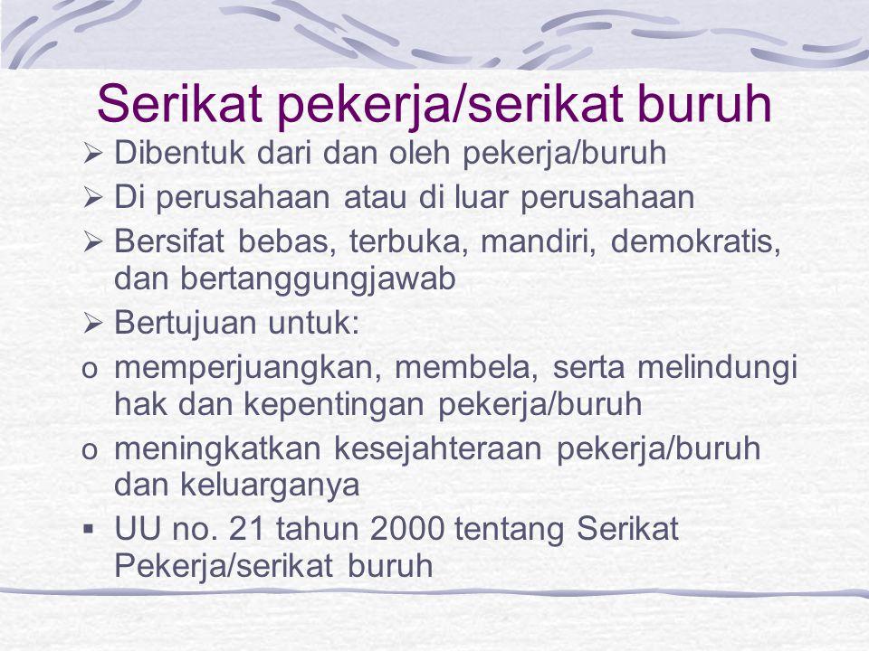 Serikat pekerja/serikat buruh