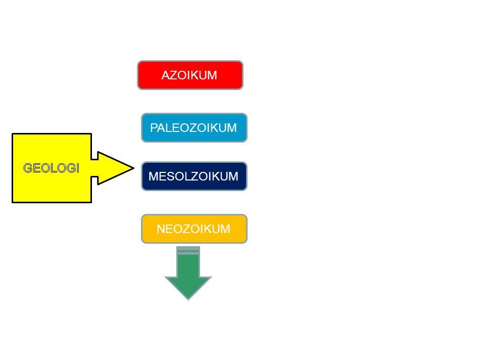 AZOIKUM PALEOZOIKUM GEOLOGI MESOLZOIKUM NEOZOIKUM