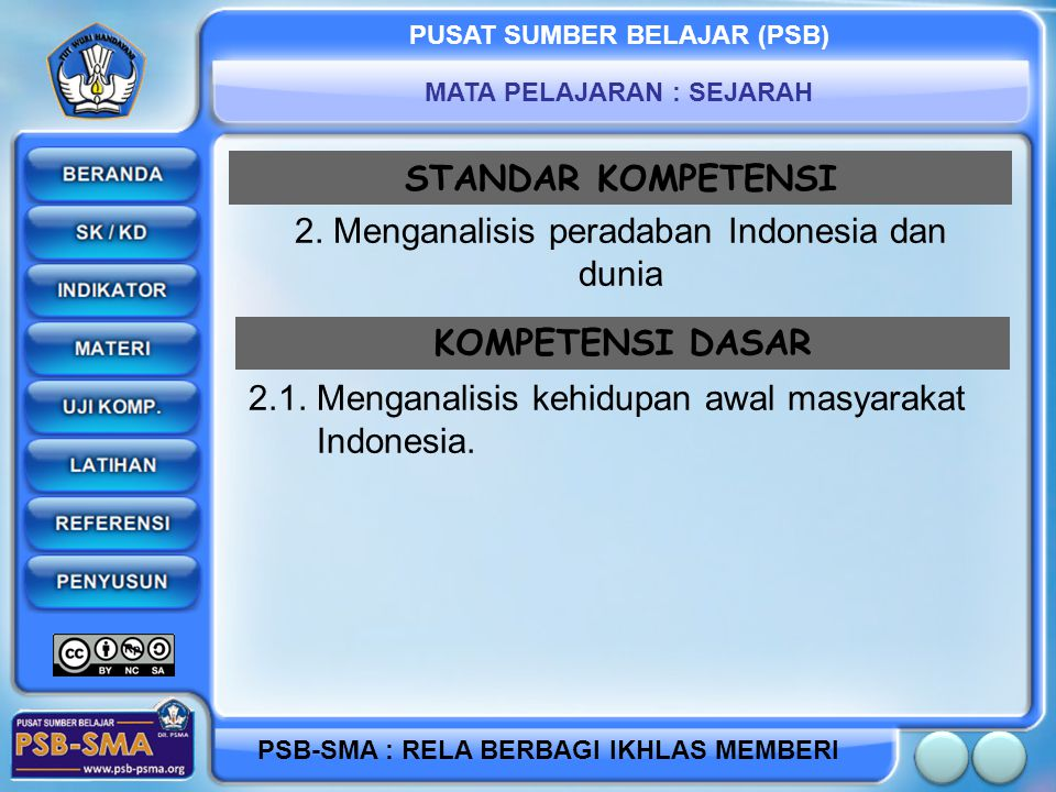 2. Menganalisis peradaban Indonesia dan dunia