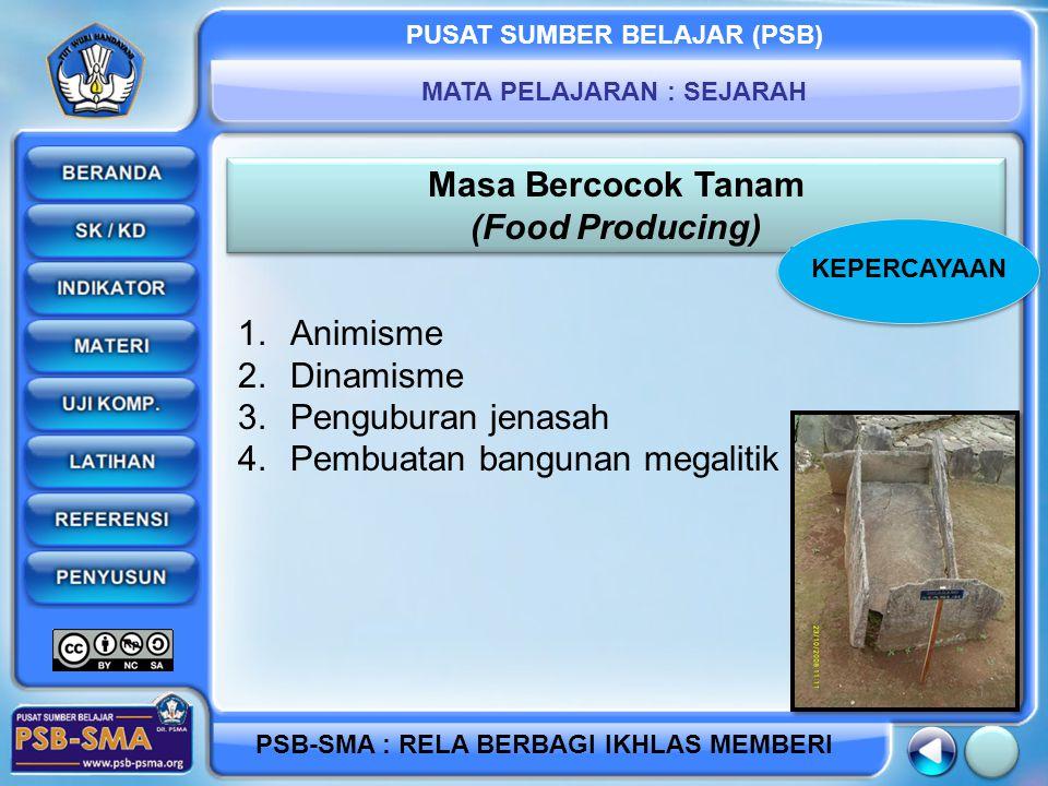 Masa Bercocok Tanam (Food Producing)