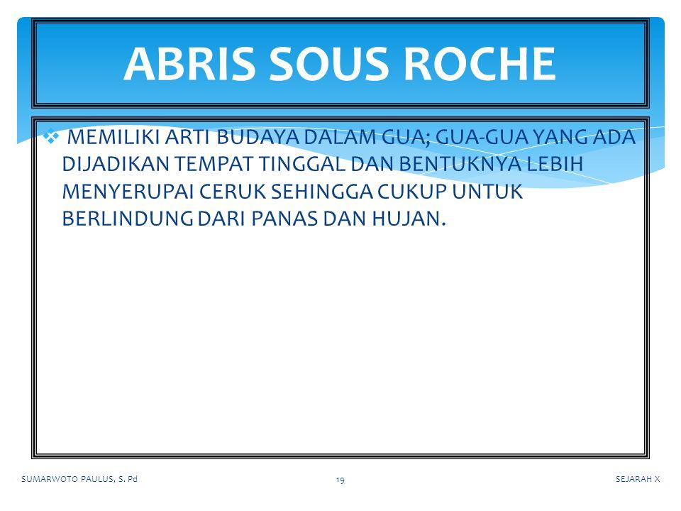 ABRIS SOUS ROCHE