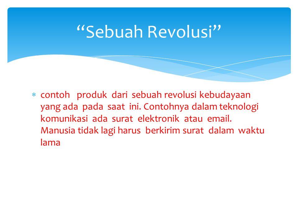Sebuah Revolusi