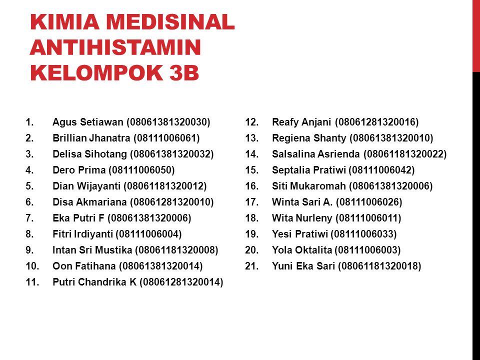 Kimia Medisinal Antihistamin Kelompok 3B