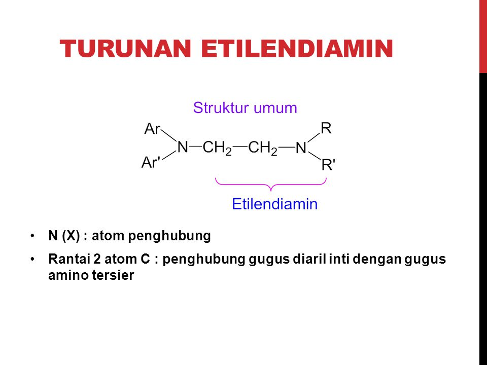 Turunan Etilendiamin N (X) : atom penghubung