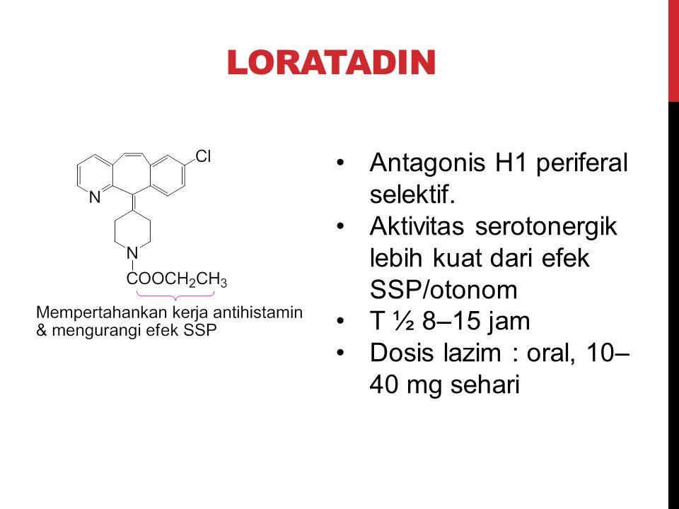 Loratadin Antagonis H1 periferal selektif.