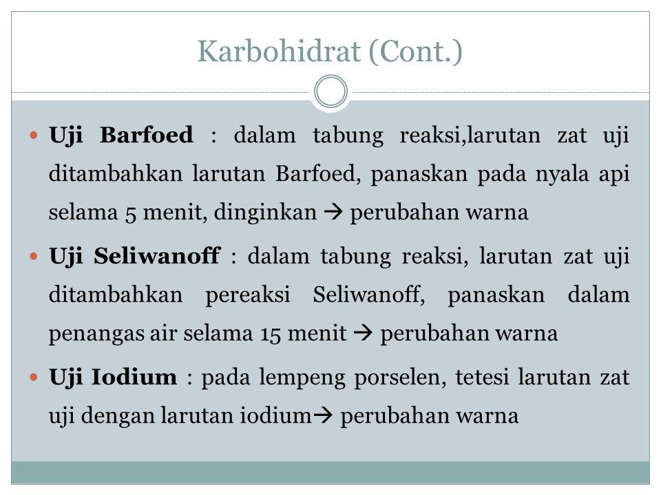 Karbohidrat (Cont.)