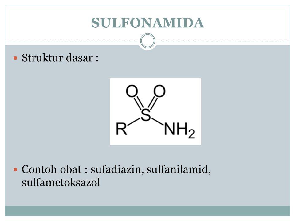 SULFONAMIDA Struktur dasar :