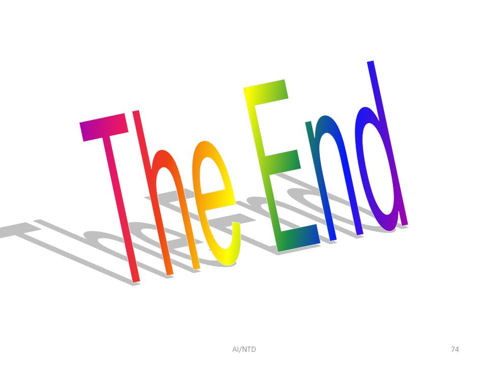 The End AI/NTD