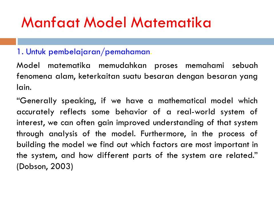 Manfaat Model Matematika
