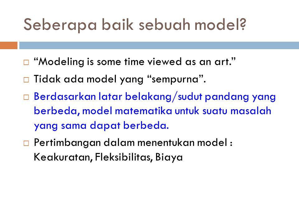 Seberapa baik sebuah model