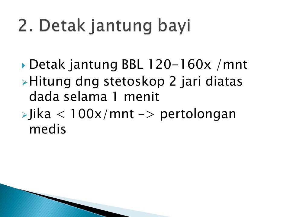 2. Detak jantung bayi Detak jantung BBL 120-160x /mnt