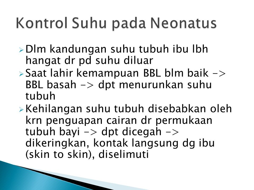 Kontrol Suhu pada Neonatus