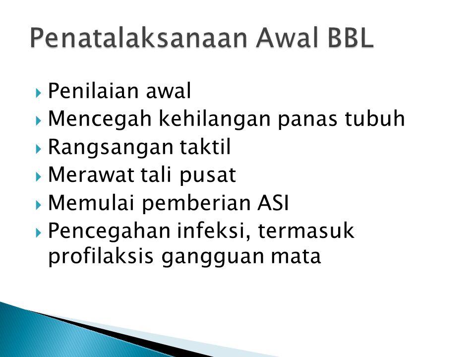 Penatalaksanaan Awal BBL