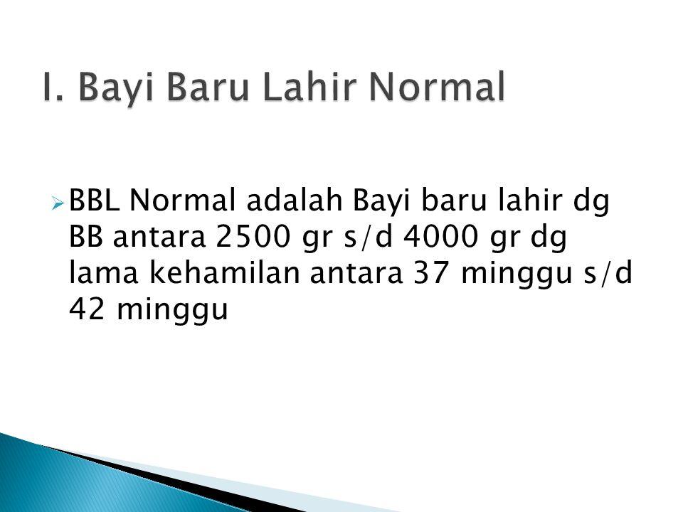 I. Bayi Baru Lahir Normal