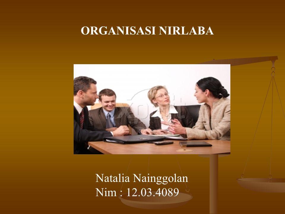 ORGANISASI NIRLABA Natalia Nainggolan Nim : 12.03.4089