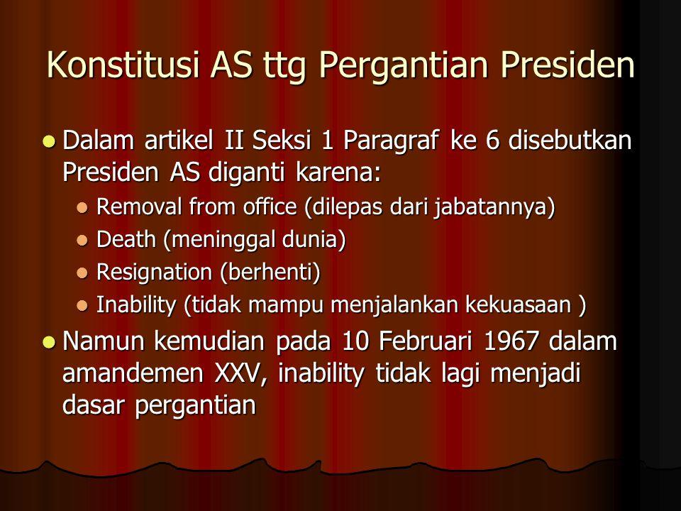 Konstitusi AS ttg Pergantian Presiden