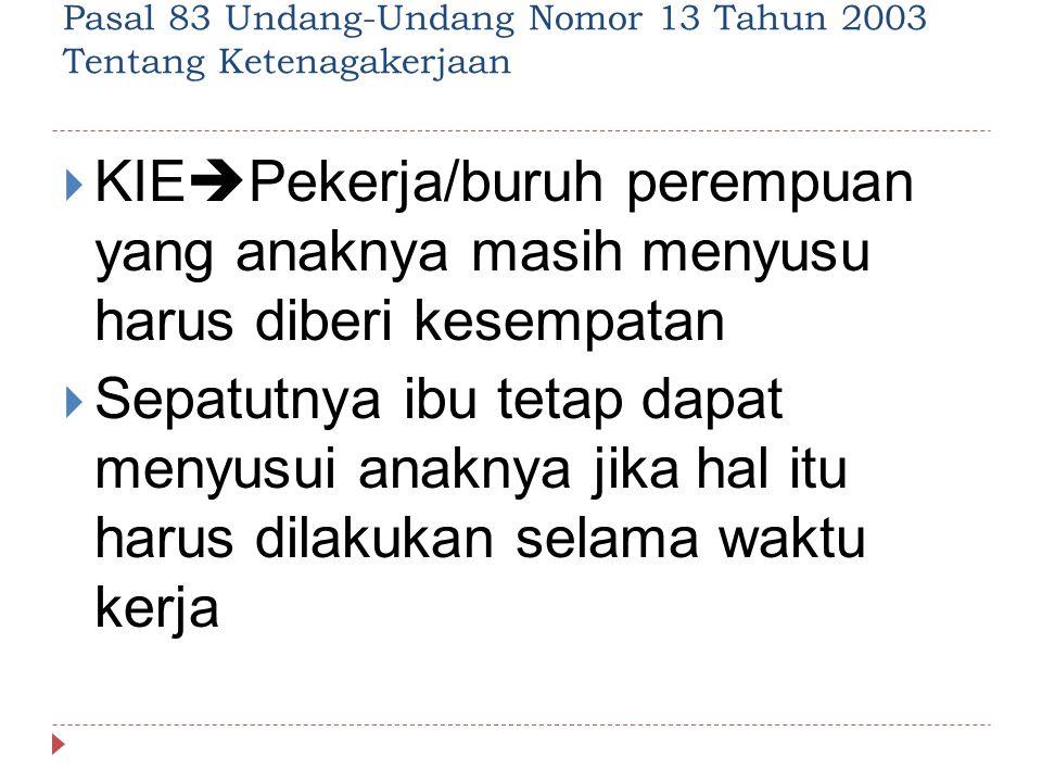 Pasal 83 Undang-Undang Nomor 13 Tahun 2003 Tentang Ketenagakerjaan