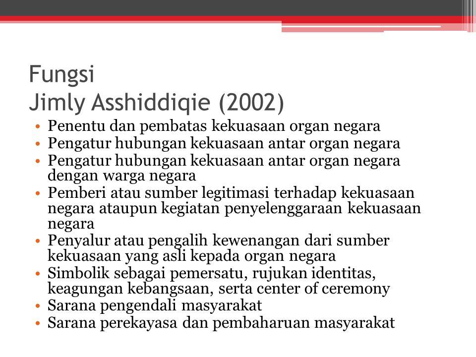 Fungsi Jimly Asshiddiqie (2002)