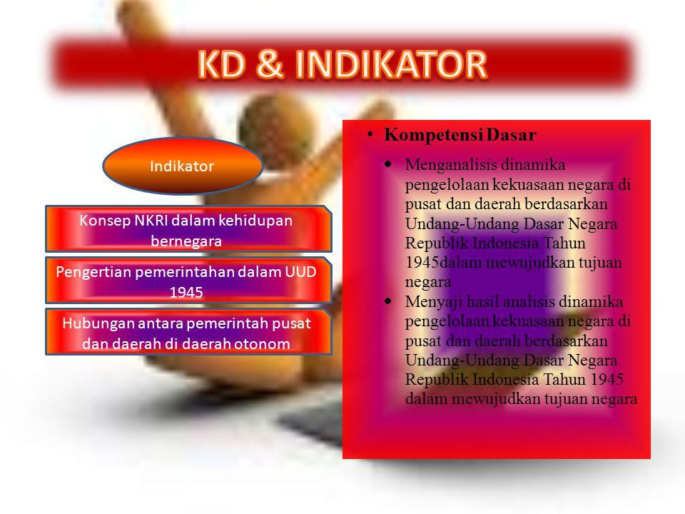 KD & INDIKATOR Kompetensi Dasar