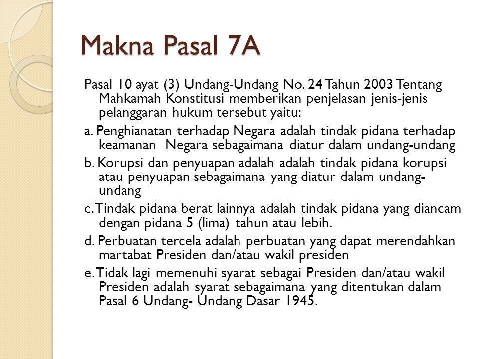 Makna Pasal 7A