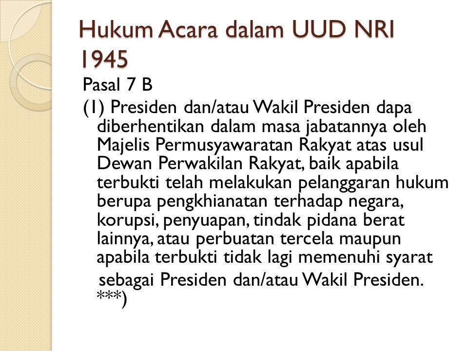 Hukum Acara dalam UUD NRI 1945