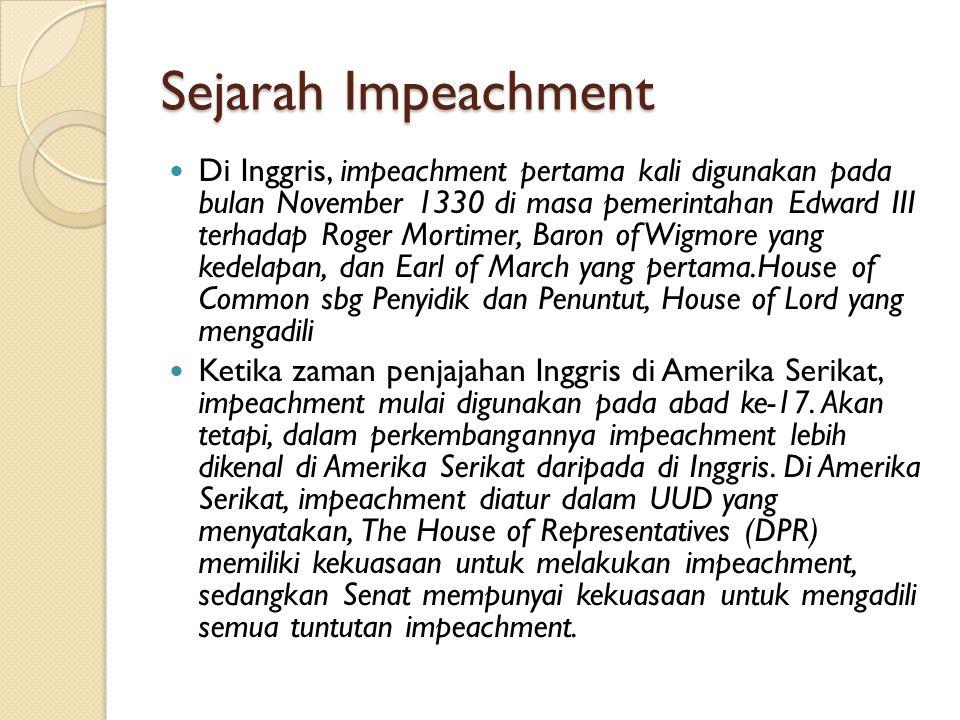 Sejarah Impeachment