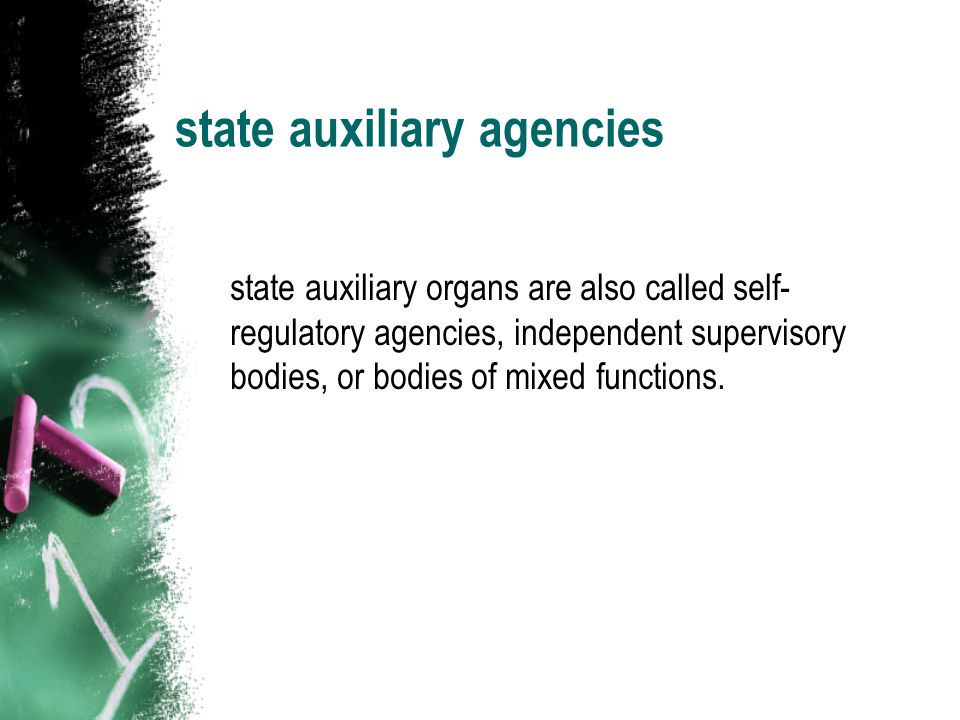 state auxiliary agencies