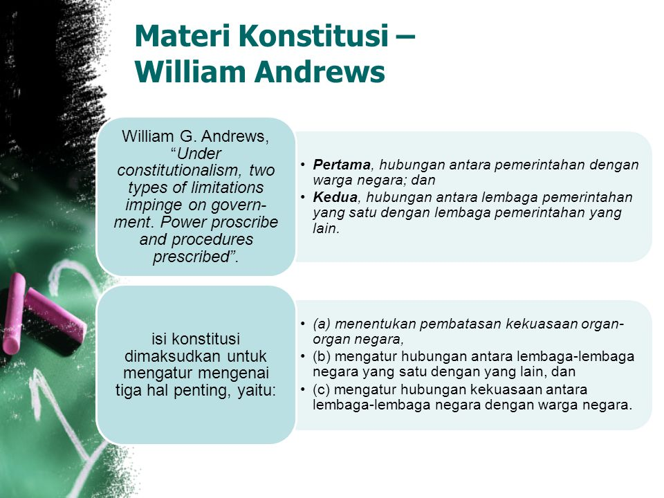 Materi Konstitusi – William Andrews