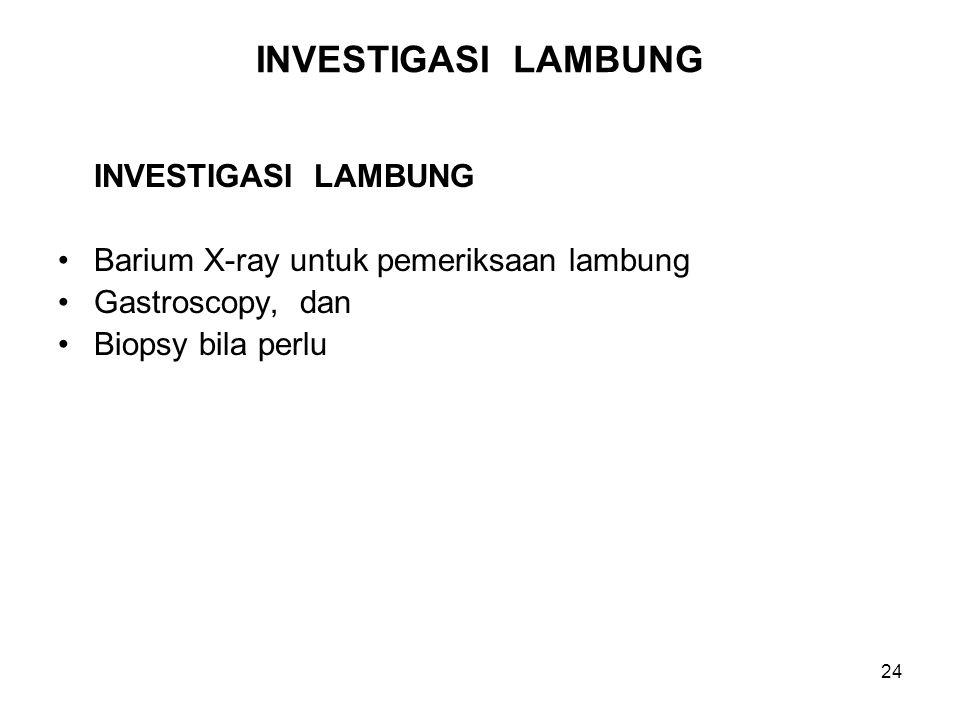 INVESTIGASI LAMBUNG INVESTIGASI LAMBUNG